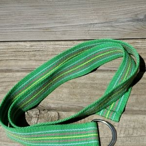 Belt with Green, Light Blue, Pink & Yellow